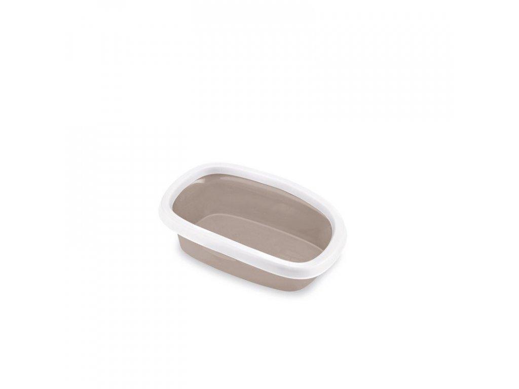 Toaleta pro kočky Sprint 10 - kočičí WC, 31 x 43 x 14 cm, pudrově hnědá