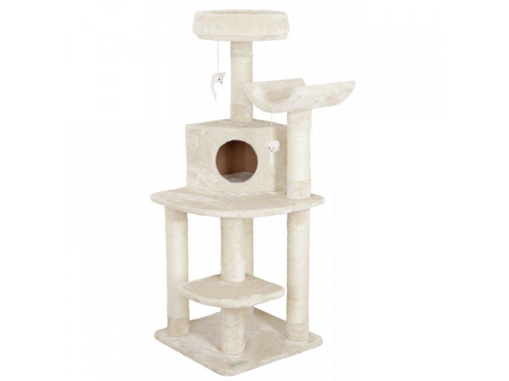 Škrabadlo pro kočky Zirkonia, rohové, béžové, 56 x 56 x 130 cm