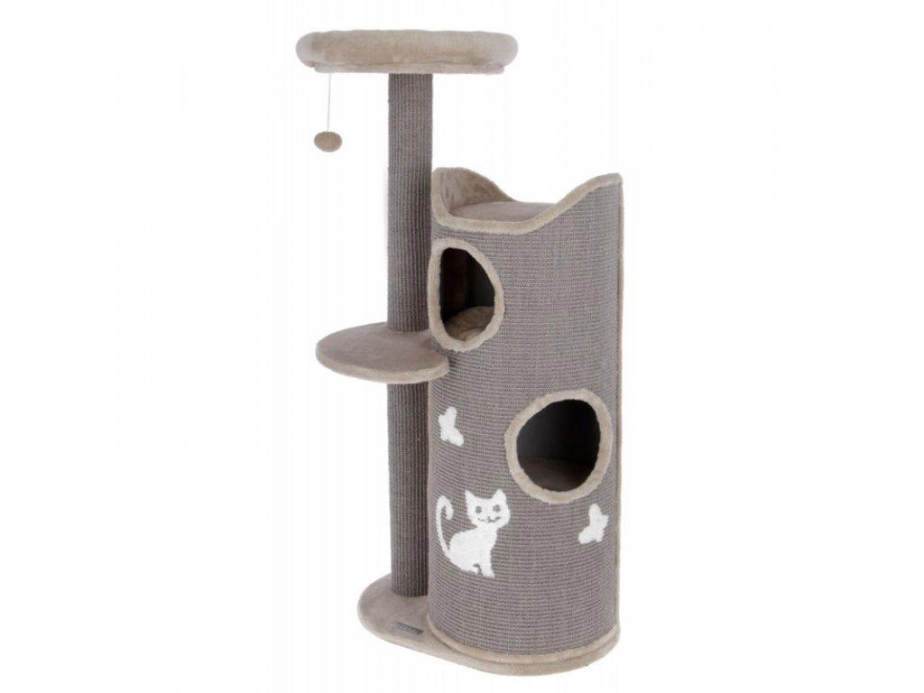 Škrabadlo pro kočky Tiana, šedé, 70 x 56 x 130 cm