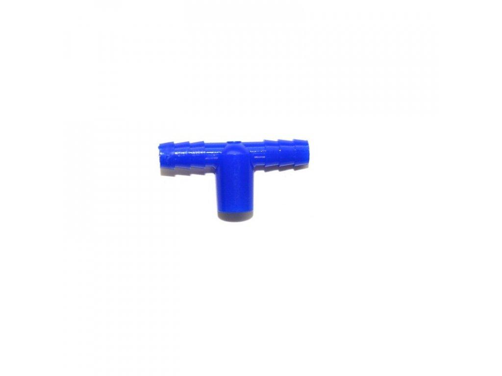 T konektor k napáječce pro kuřata Mini-drinker, modrý
