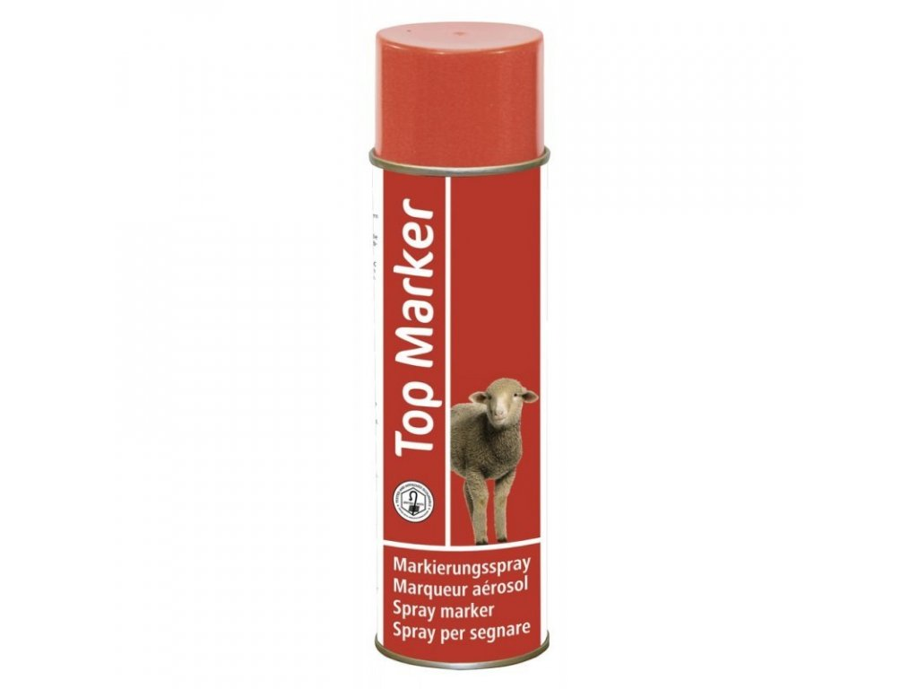 Sprej značkovací na ovce TopMarker 500 ml, červený