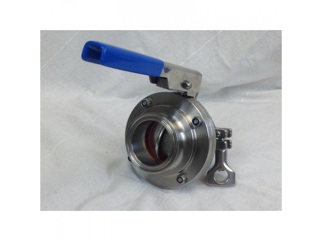Ventil DIN50 nerezový pákový k chladícím tankům MPV na mléko