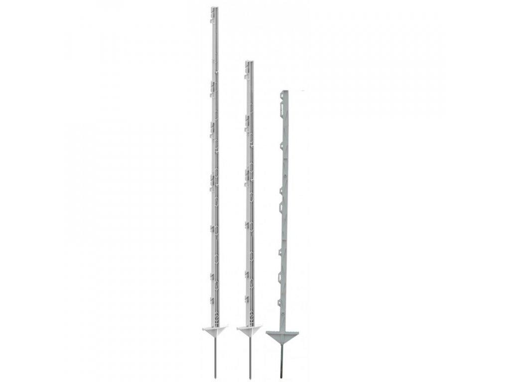 Tyčka - sloupek pro elektrický ohradník, plastová, bílá