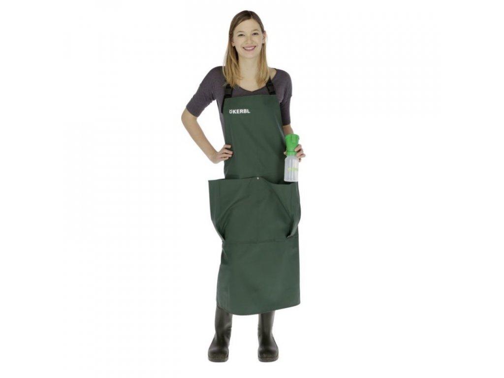 Zástěra na dojení Premium, zelená s kapsami