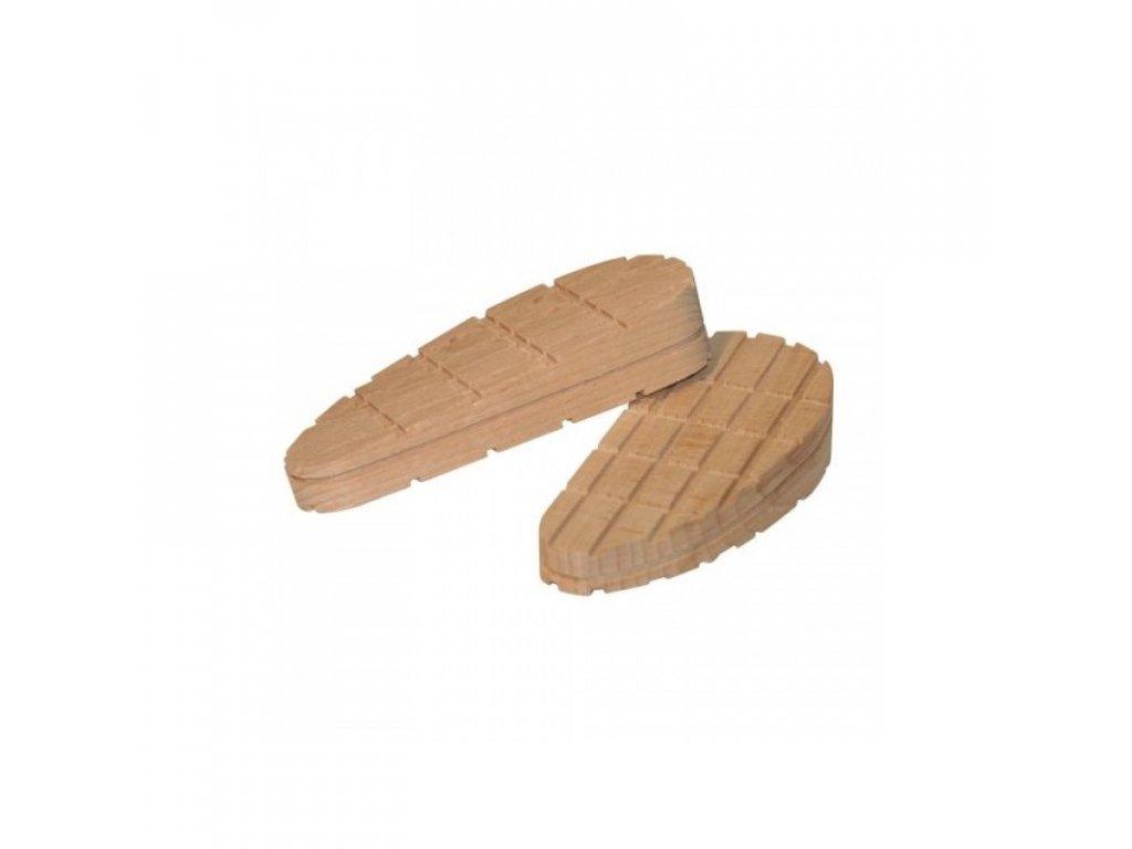 Bloček dřevěný skloněný