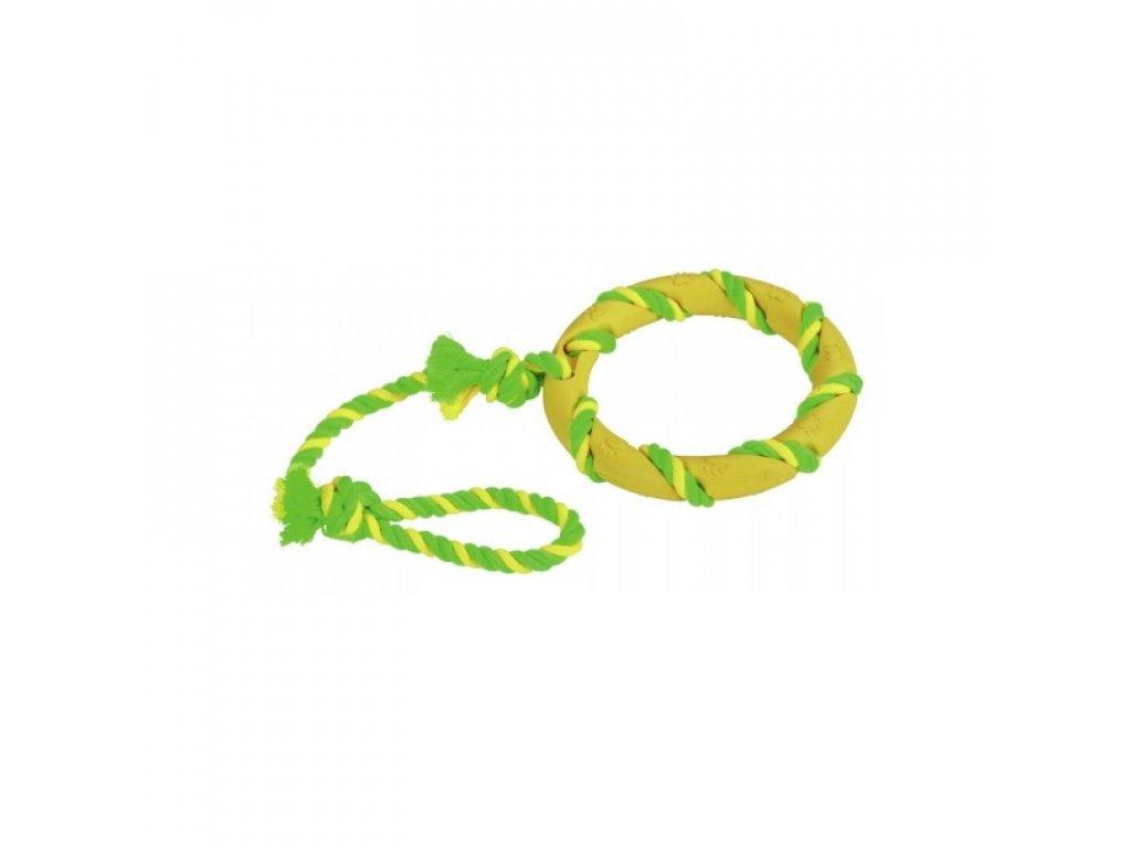 Hračka pro psy gumová - kruh přetahovadlo, prům. 14 cm