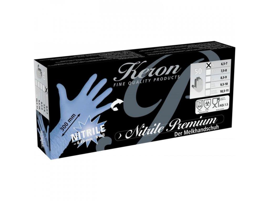 Rukavice nitrilové Premium, délka 30 cm