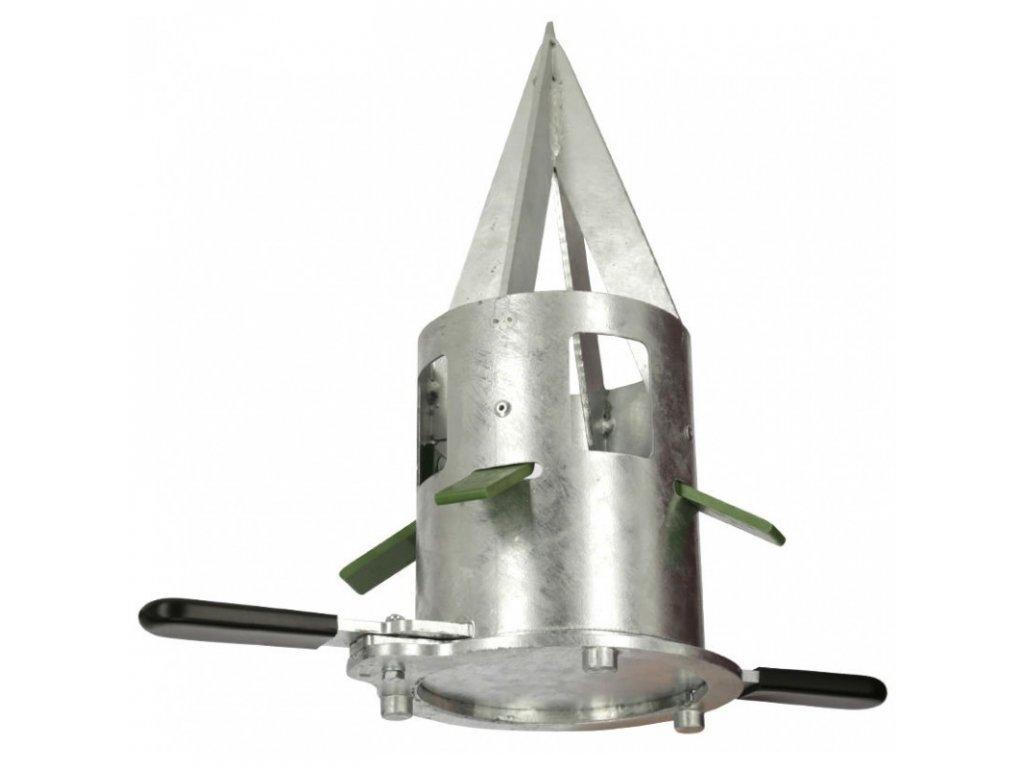 Dávkovač pro pytle Big Bag, pozinkovaný kov, průměr 21 cm