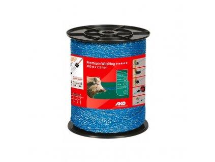 Lanko proti divočákům AKO PREMIUM pro el. ohradník, 6x0,25 mm Cu, 400 m, modrá