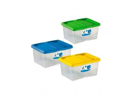 Box úložný Junior, plastový, 40 x 30 x 18 cm, zelený