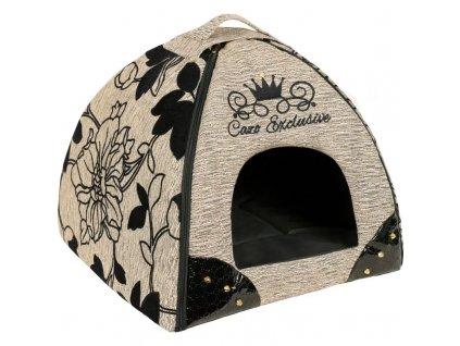 CAZO Kukaň pro psy a kočky Exclusive Noir Brown, 47 x 46 x 40 cm