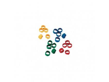 Kroužky na slepice, spirálové, 4 barvy, 16 mm-prodej po 1ks
