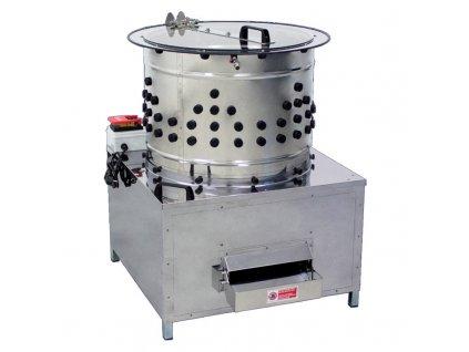 Elektrická škubačka drůbeže Cylindra, nerezová, bubnová