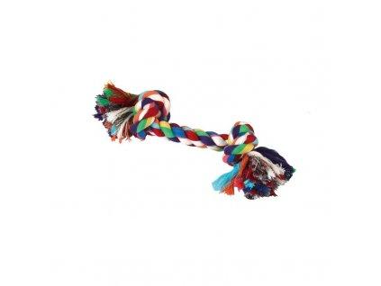 Hračka pro psy bavlněná - 2x uzel barevný