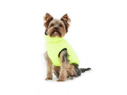 Vesta pro psa Charmonix prošívaná oboustranná, šedá/neonově žlutá