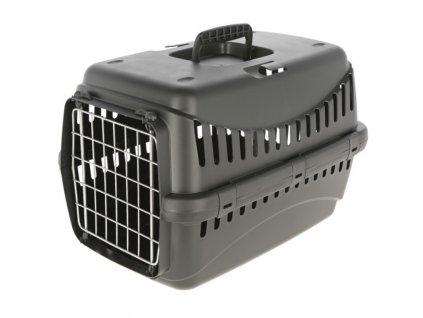 Kerbl Přepravka pro psa Expedition Eco, s kovovými dvířky, černá