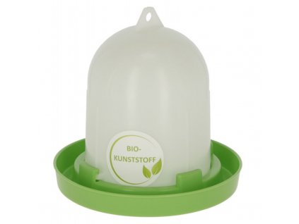Napáječka pro drůbež klobouková s bajonetem, EKO plast, bílá / zelená