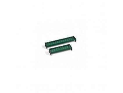 Krmítko pro slepice žlabové, plastové s kovovou mřížkou, 13x50 cm