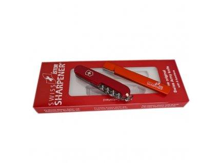 Brousek na kopytní nože iSTOR STANDARD SWISS, kovový, 10 cm, dárková sada s nožem