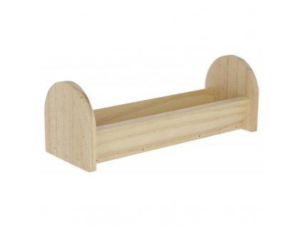 Krmítko pro hlodavce, dřevěné, 28 x 10 x 10 cm