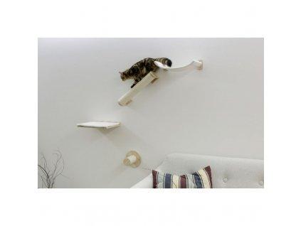 Škrabadlo pro kočky Alps, sada nástěnných pater, přírodní / bílá, 4 ks