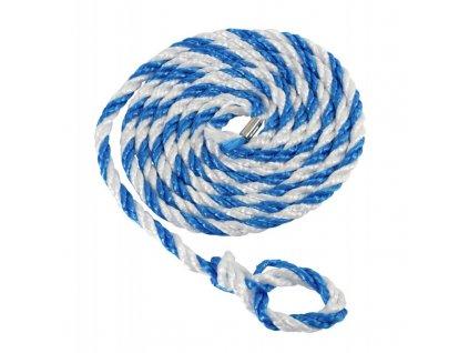 Vazák transportní pro hospodářská zvířata, malá smyčka, modro / bílý, 3,2 m