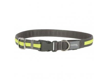 Obojek pro psy svítící a reflexní, LED, nabíjecí, žlutý, S / M