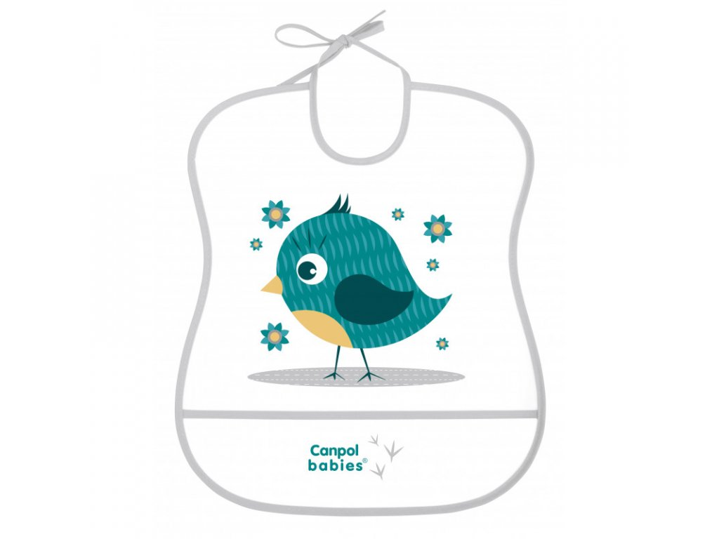 canpol babies plastovy bryndak mekky cute animals ptacek