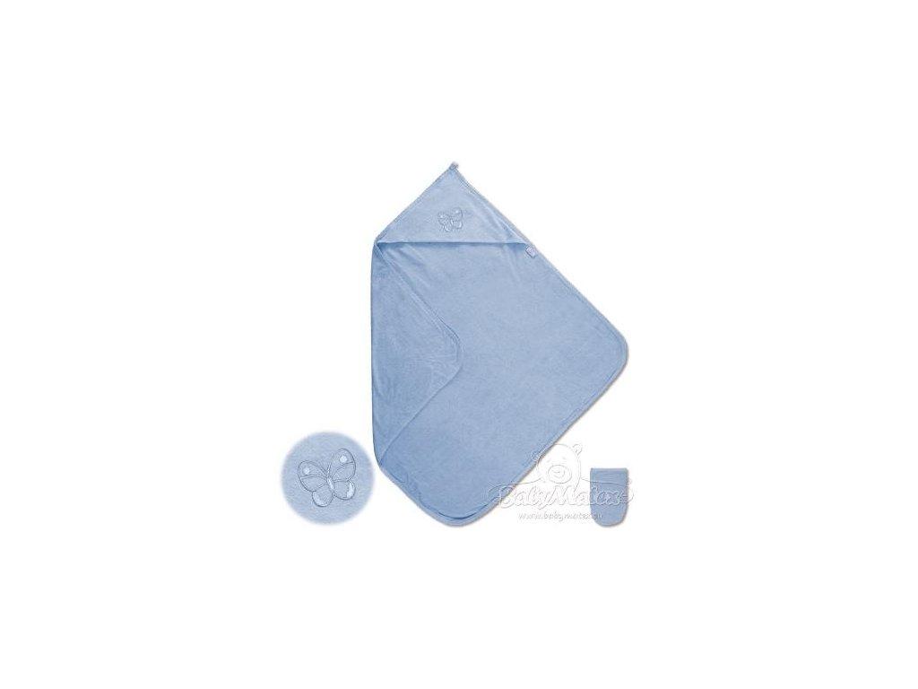 Baby Matex LUPER dětská osuška s kapucí modrá