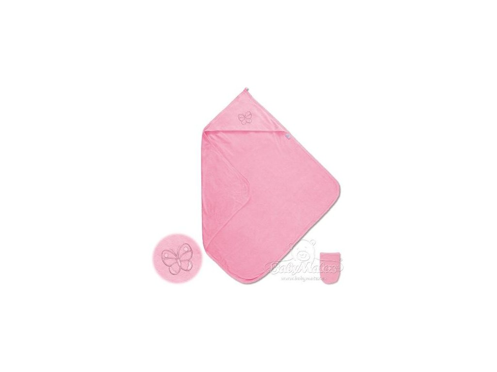 Baby Matex LUPER dětská osuška s kapucí růžová