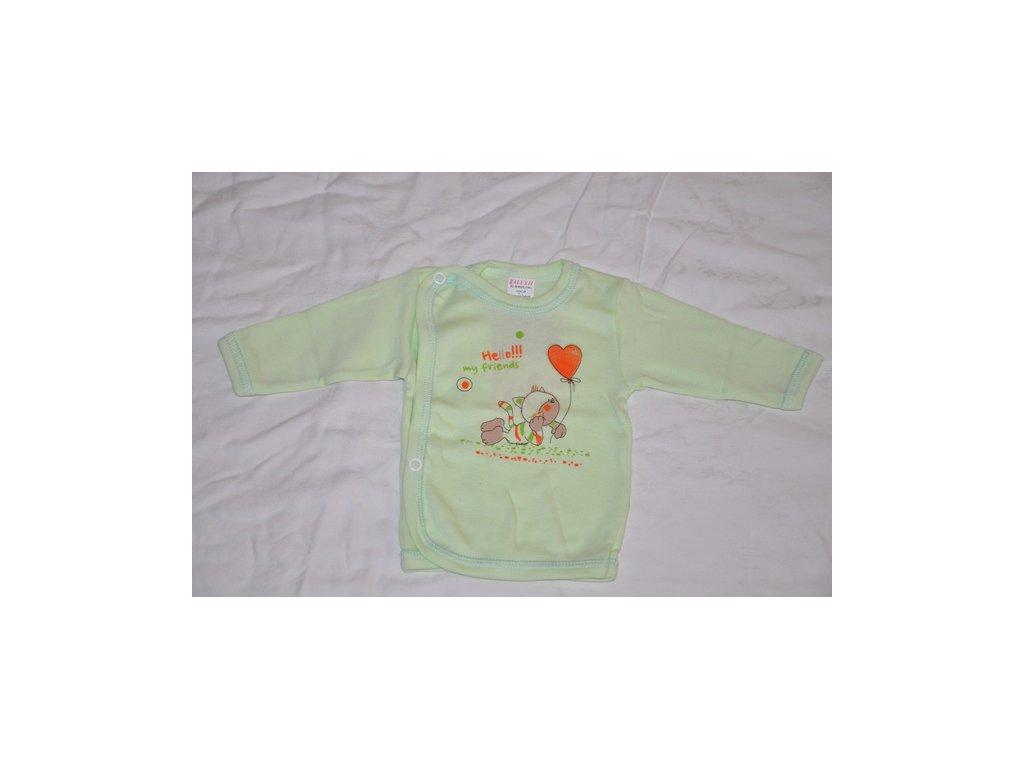Bavlněná košilka Hello my friends Kočka zelená vel.56