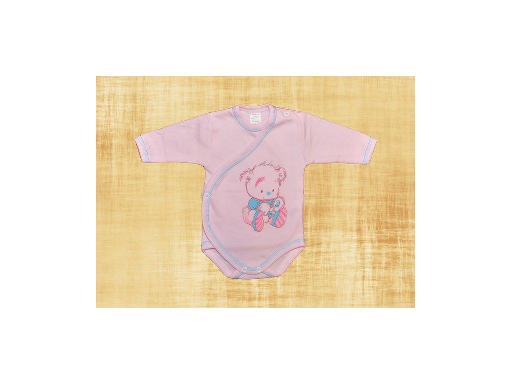 Bavlněné body Medvídek růžový 56