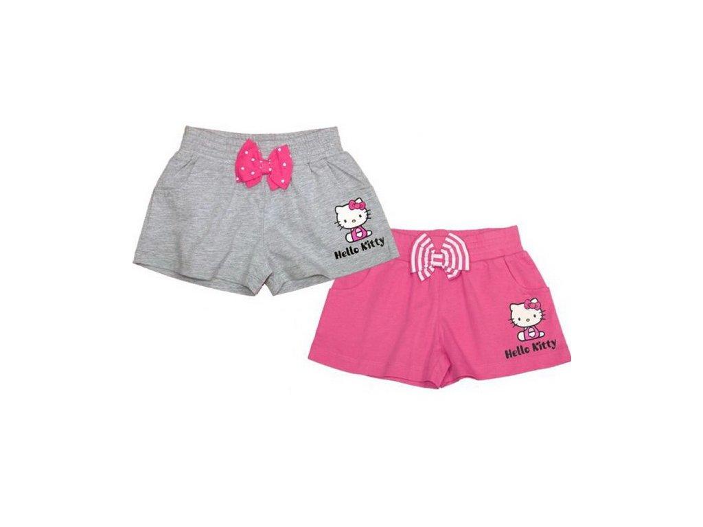 Bavlněné kraťasy Hello Kitty šedé 110/116