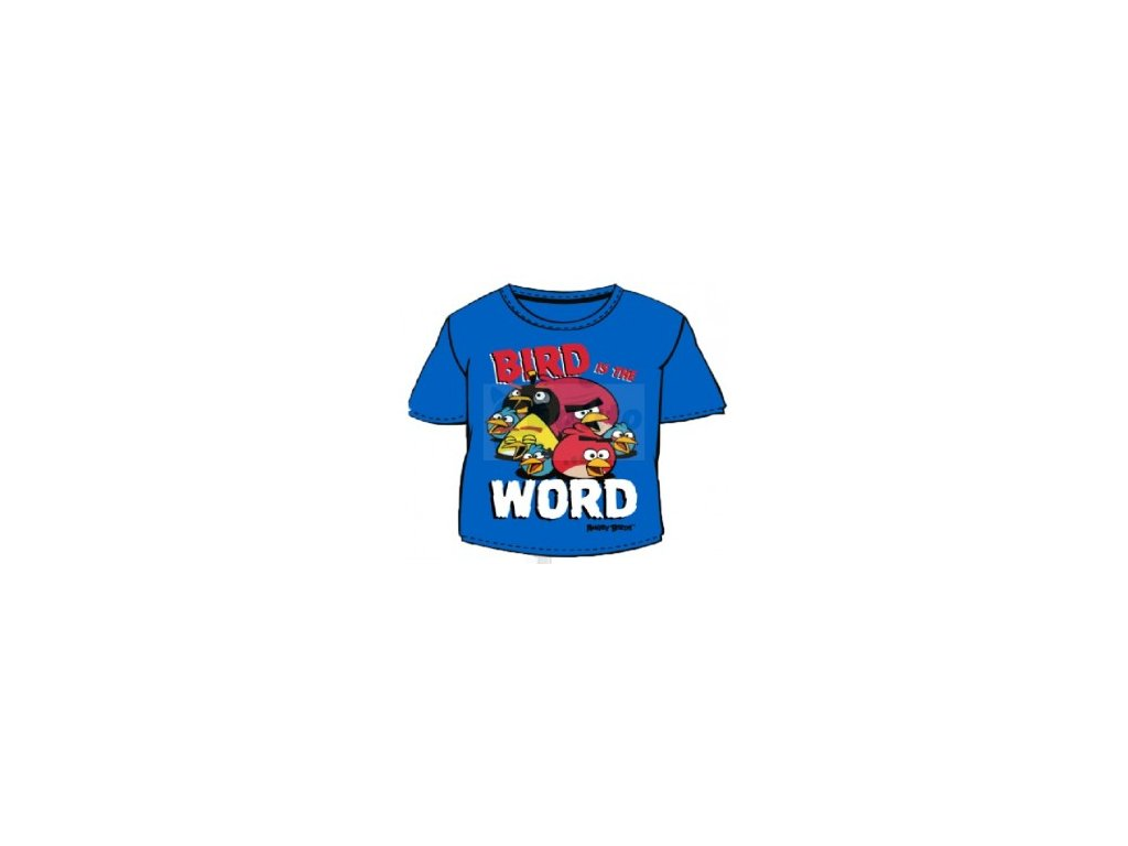 Bavlněné tričko Angry Birds modré 98/104