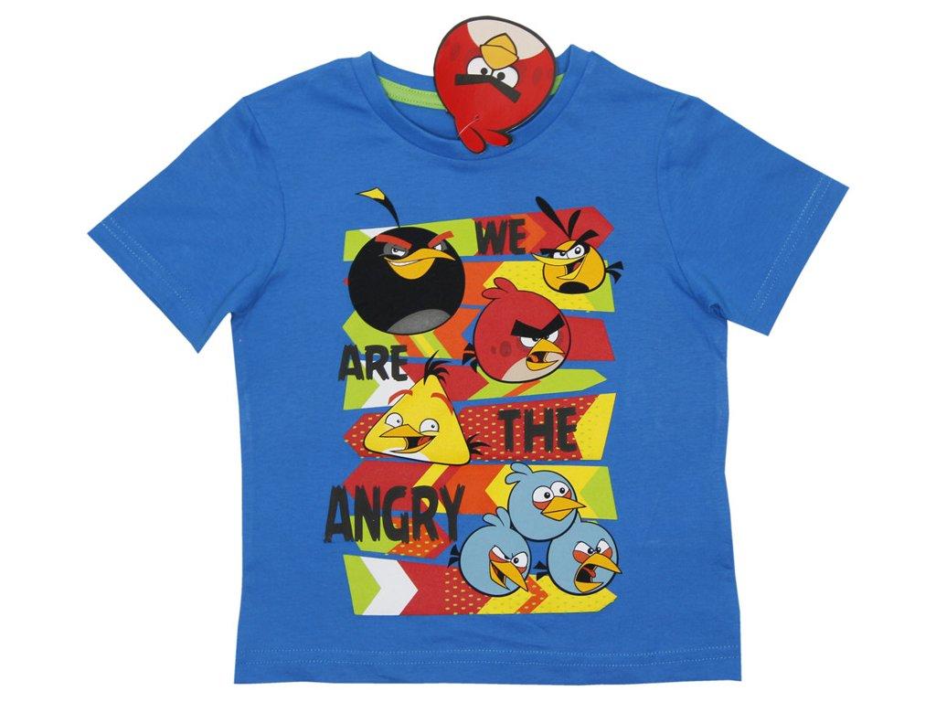 Bavlněné tričko We are Angry Birds modré 104