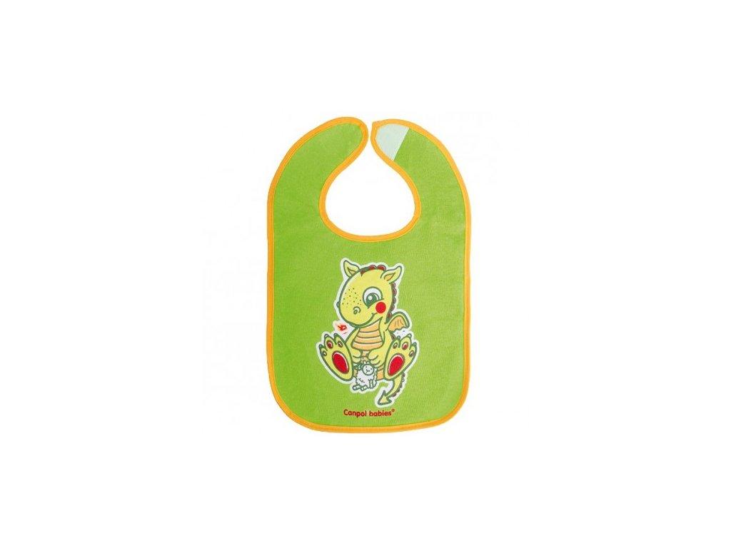 Canpol Babies Bryndák bavlna/PEVA Fairy Tale suchý zip  zelený