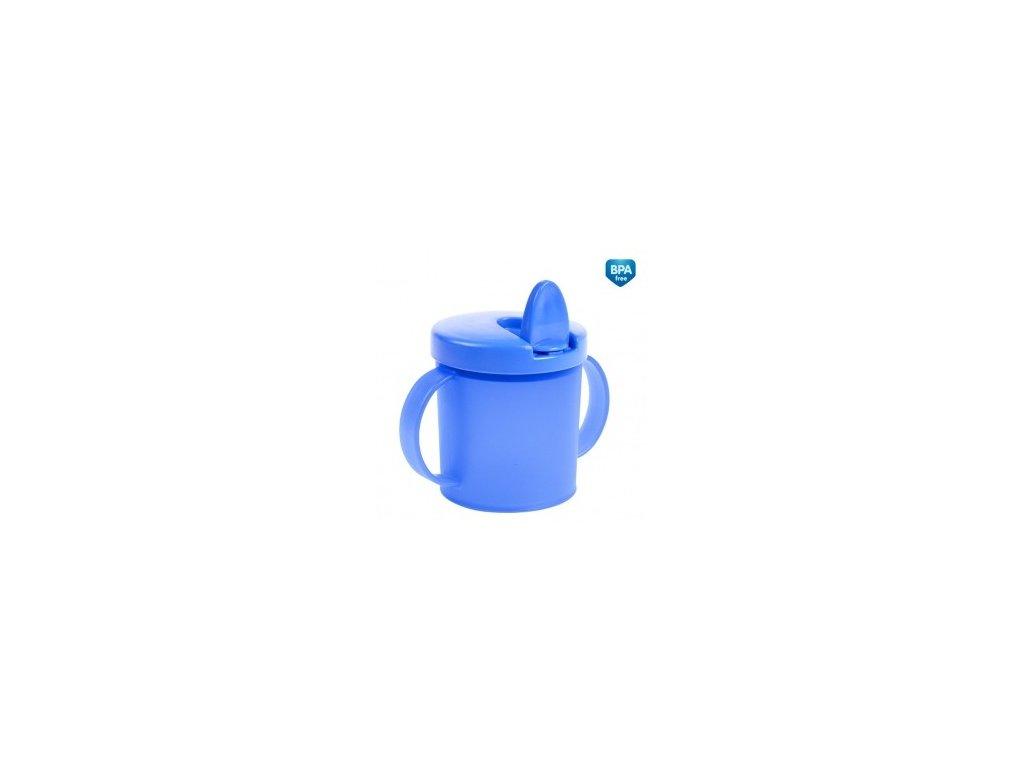 Canpol Babies Hrníček s pítkem Basic celý modrý 31/415
