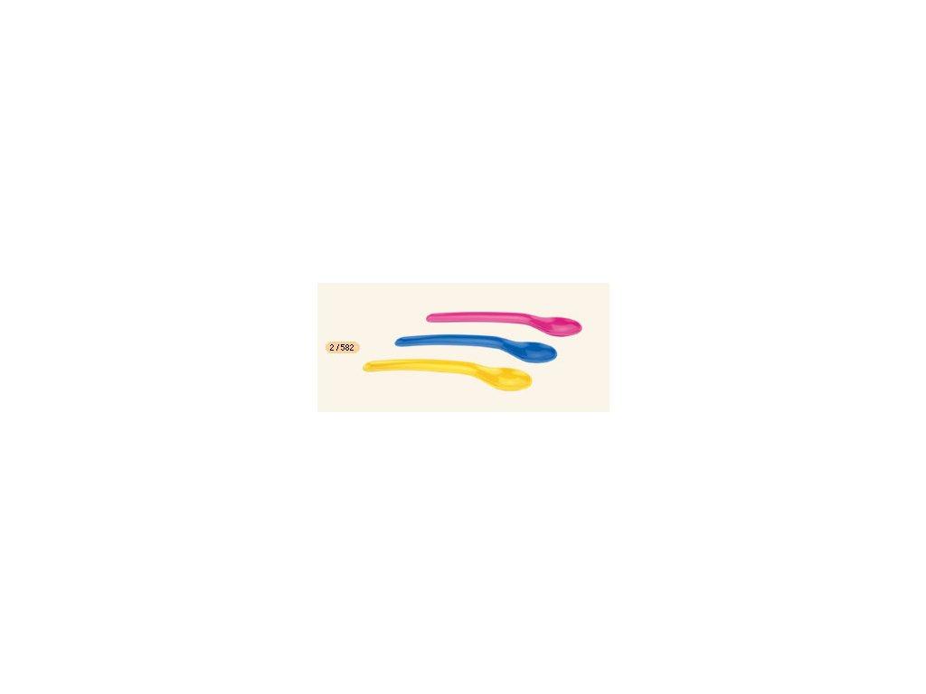 Canpol Babies Plastová lžička 3ks pro začátky krmení