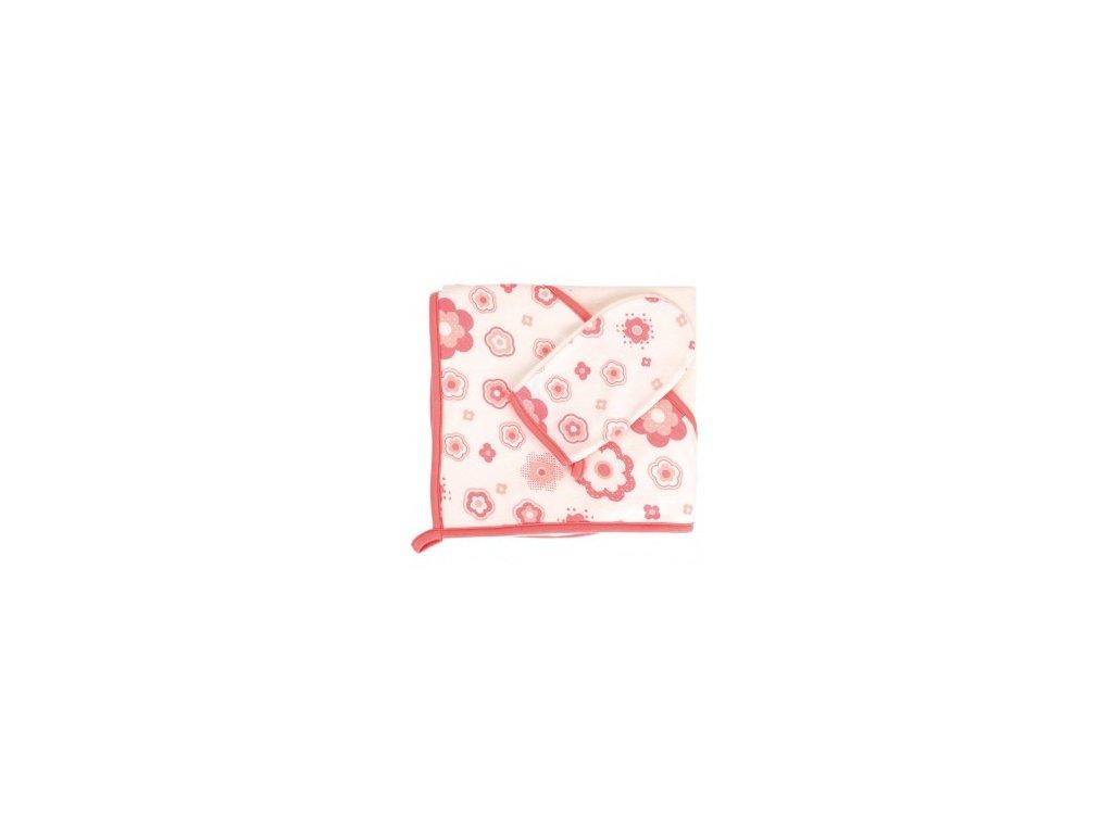 Canpol Osuška s kapucí a žínkou 26/900 Newborn baby červená