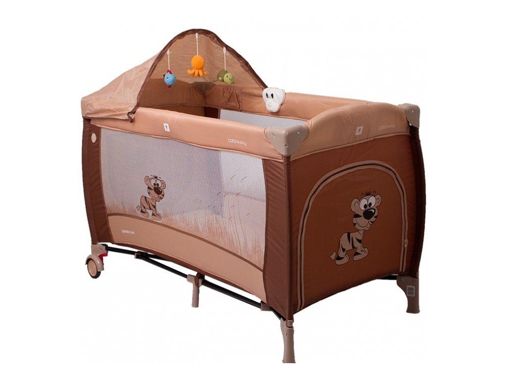 Coto Baby Luxusní cestovní postýlka Samba LUX NEW zvířátko hnědé