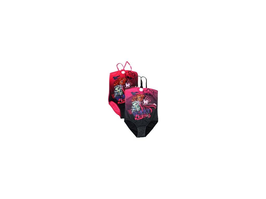 Dívčí plavky Monster High růžové vel. 116