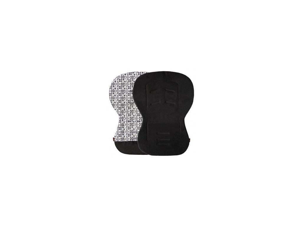 Emitex Unipodložka Moby černá + černobílé květiny