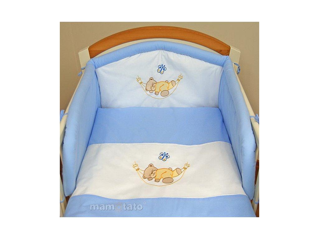 2-dílné povlečení Medvídek v hamaku modrý 120x90