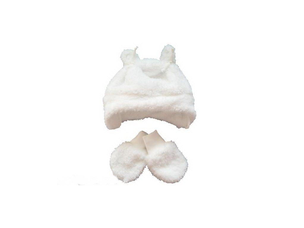 Chlupaté rukavičky bílé vel. 56-62