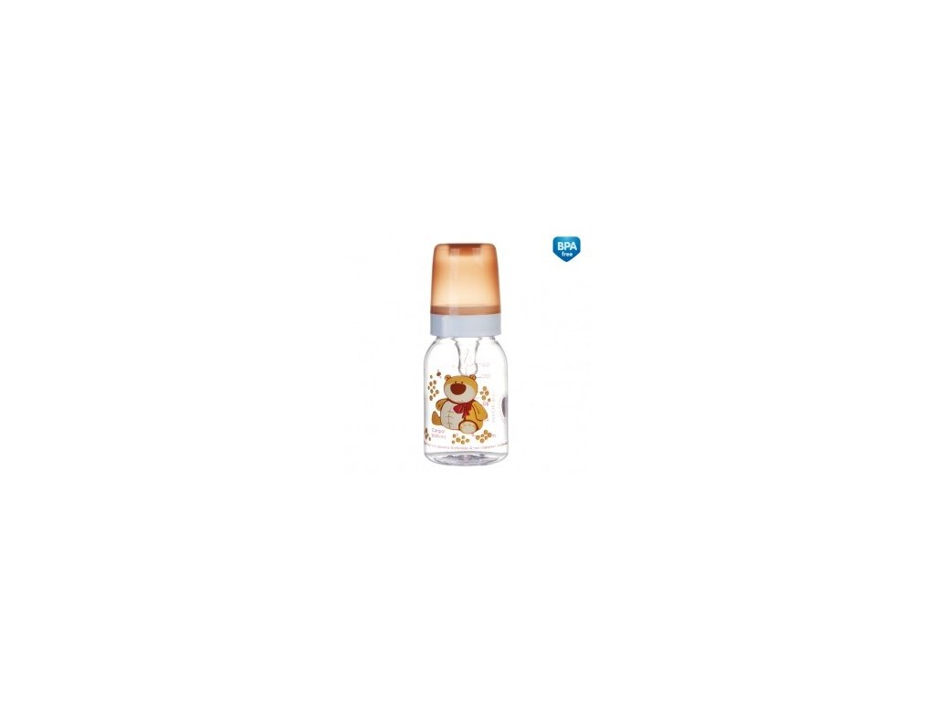 Láhev s potiskem veselá zvířátka 120 ml bez BPA 11/851