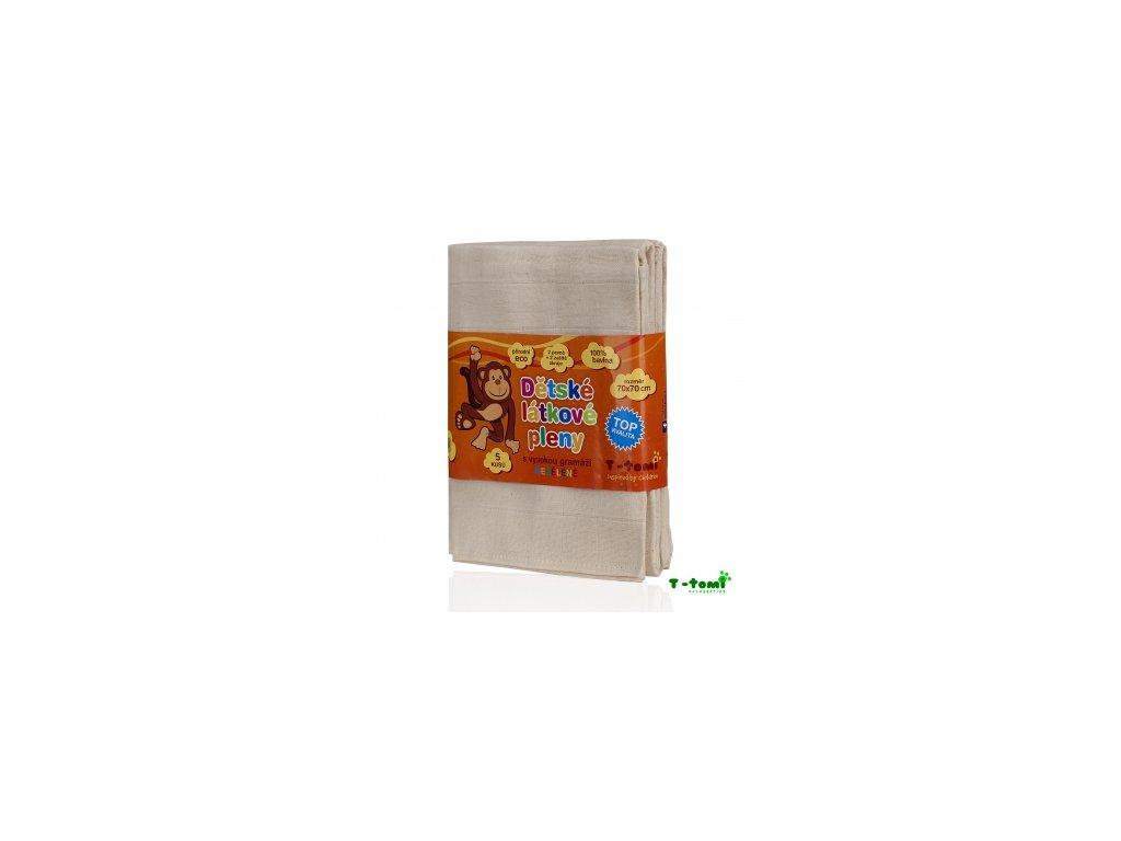 Látkové TETRA pleny NEBĚLENÉ, sada 5 kusů - TOP KVALITA 70x70