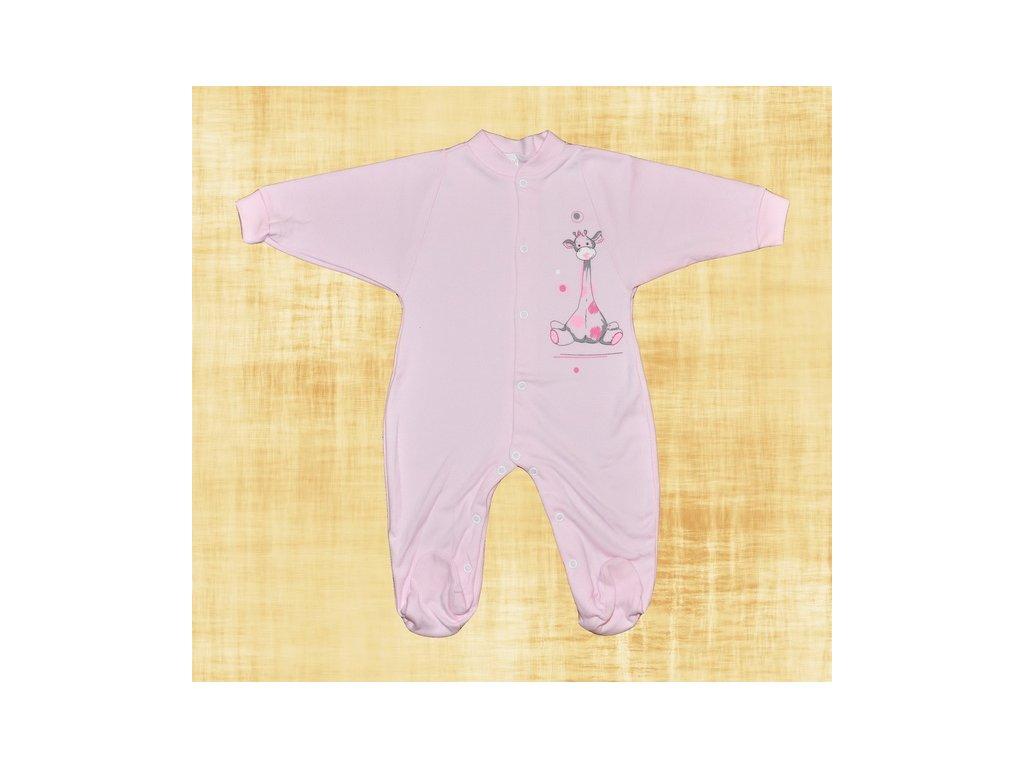 Overálek Žirafka růžová vel.68