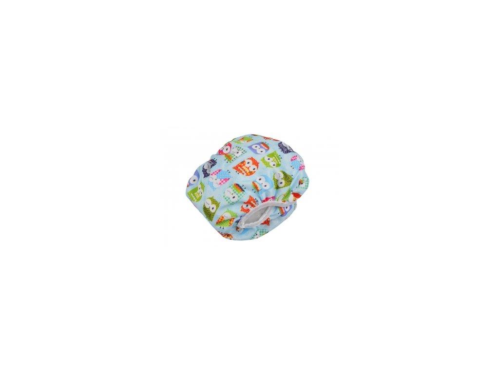 Plenkové plavky Modrá sova M +pěnová hračka zdarma