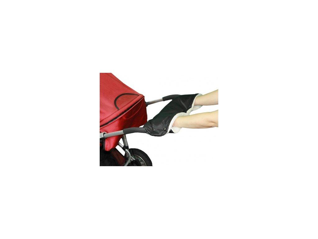 Rukávník ke kočárku černý+50% kožich Emitex