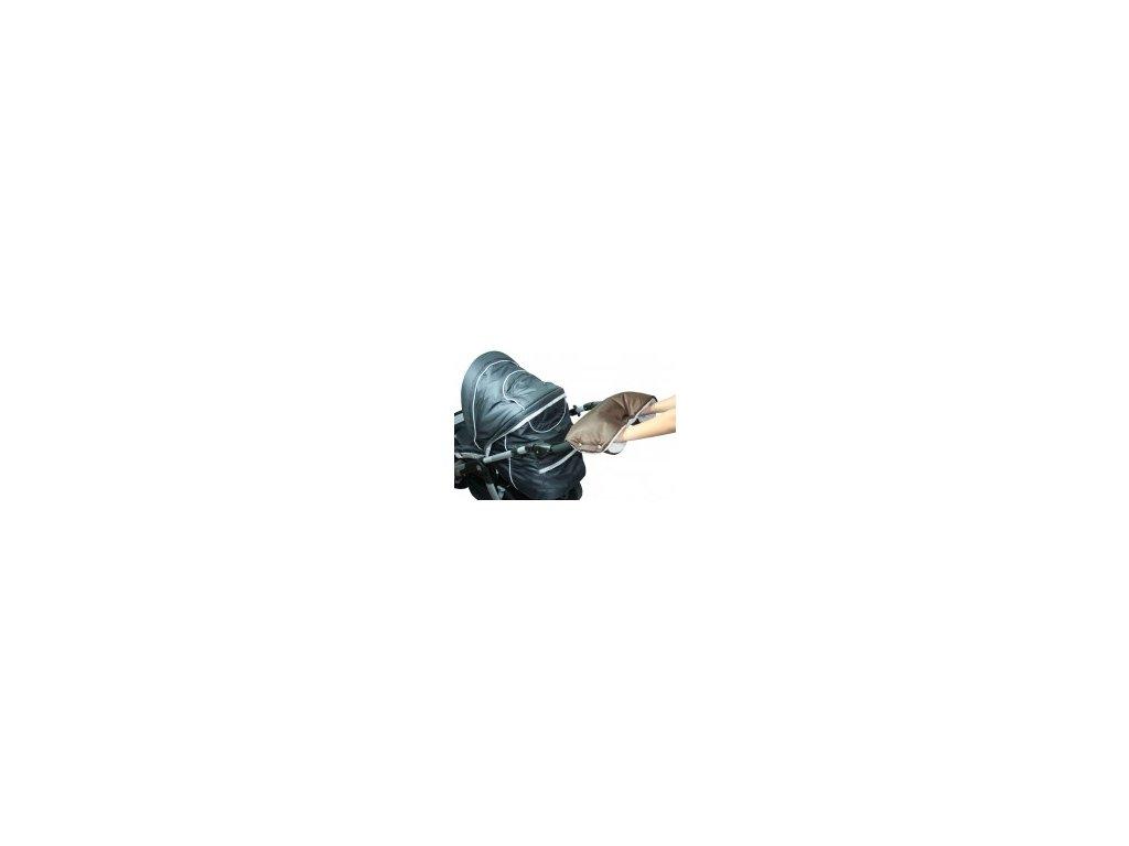 Rukávník ke kočárku hnědý/béžový Emitex